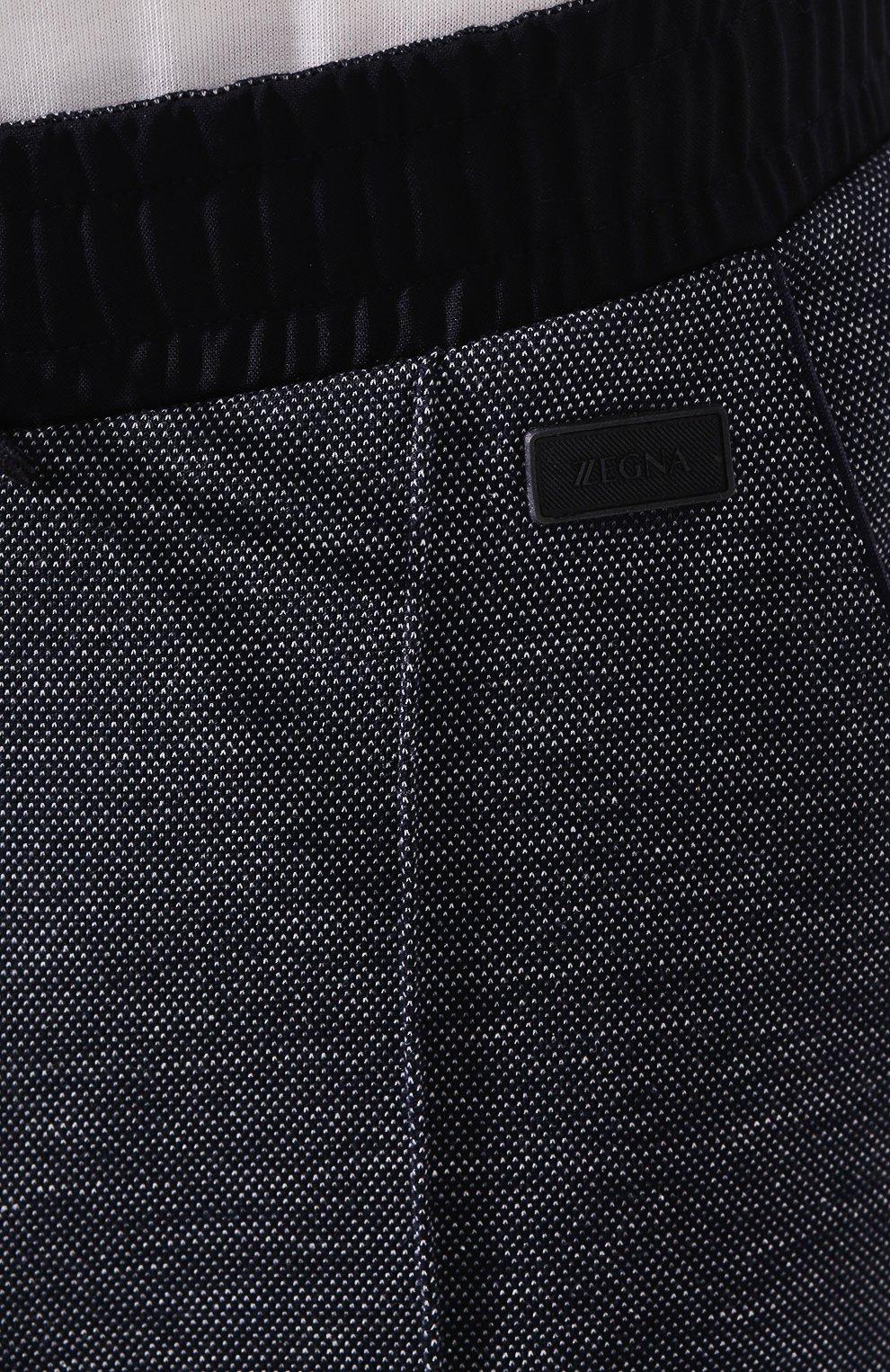 Мужские хлопковые джоггеры Z ZEGNA темно-синего цвета, арт. VU416/ZZP40 | Фото 5