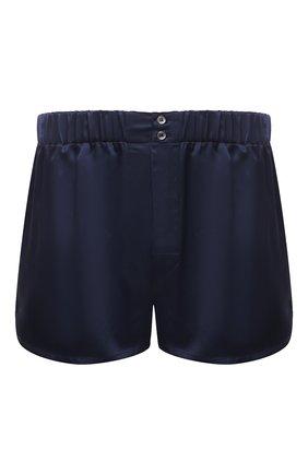 Мужские шелковые боксеры BRIONI темно-синего цвета, арт. N1B10V/PZ407 | Фото 1