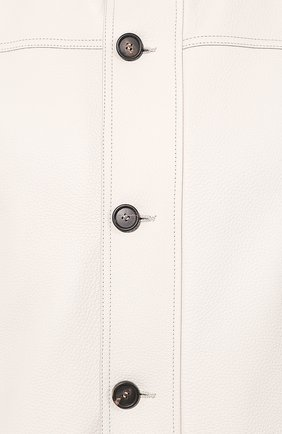 Мужской кожаный бомбер BRIONI белого цвета, арт. PLV20L/P9717 | Фото 5