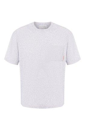 Мужская хлопковая футболка ACNE STUDIOS светло-серого цвета, арт. BL0175/M | Фото 1