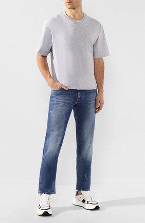 Мужская хлопковая футболка ACNE STUDIOS светло-серого цвета, арт. BL0175/M | Фото 2