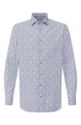 Мужская хлопковая сорочка ZILLI синего цвета, арт. MFT-01003-03250/RZ02 | Фото 1