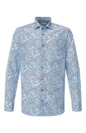 Мужская сорочка из смеси шелка и хлопка ZILLI голубого цвета, арт. MFT-00903-84080/RZ02 | Фото 1