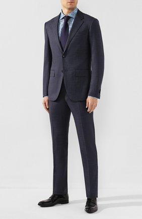 Мужская сорочка из смеси шелка и хлопка ZILLI голубого цвета, арт. MFT-00903-84080/RZ02 | Фото 2