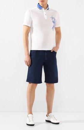 Мужские джинсовые шорты ZILLI синего цвета, арт. MCT-00078-DEUL1/R001 | Фото 2