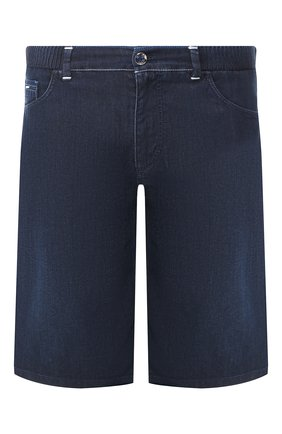 Мужские джинсовые шорты ZILLI темно-синего цвета, арт. MCT-00078-DEUL1/R001 | Фото 1