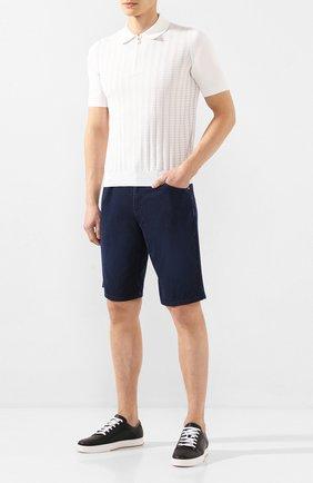 Мужские джинсовые шорты ZILLI темно-синего цвета, арт. MCT-00078-DEUL1/R001 | Фото 2