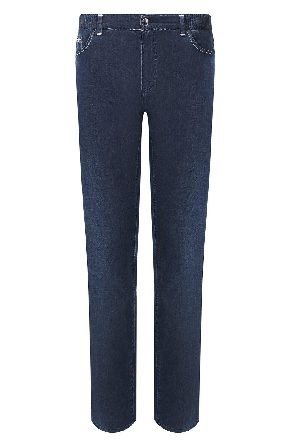 Мужские джинсы ZILLI синего цвета, арт. MCT-00071-DEUL1/R001   Фото 1