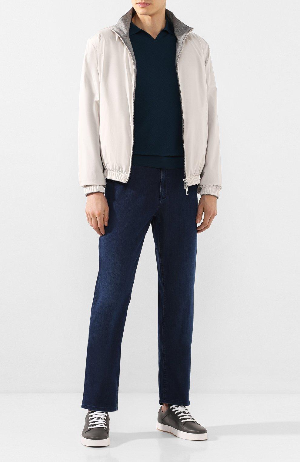 Мужские джинсы ZILLI синего цвета, арт. MCT-00071-DEUL1/R001   Фото 2
