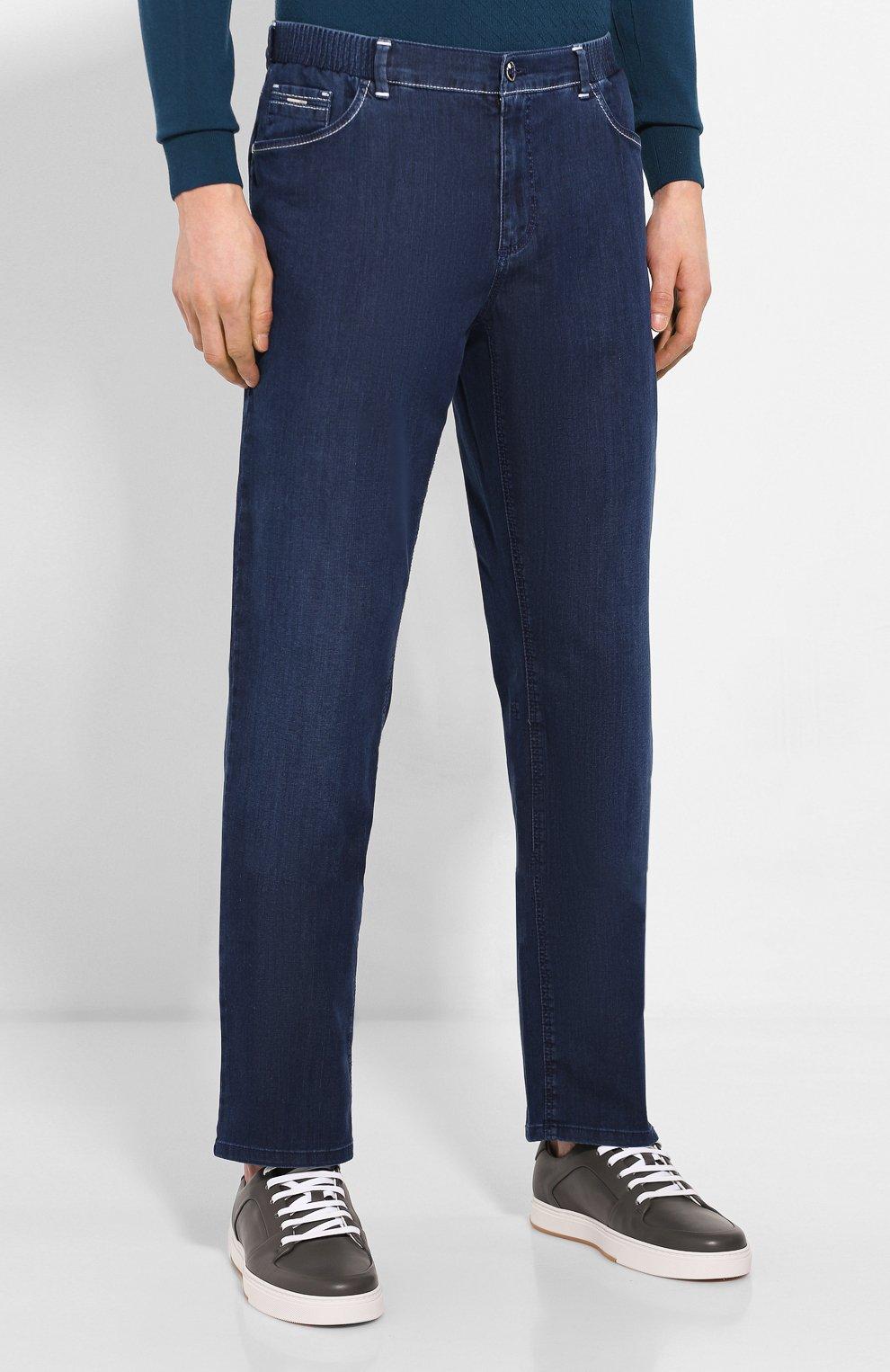 Мужские джинсы ZILLI синего цвета, арт. MCT-00071-DEUL1/R001   Фото 3