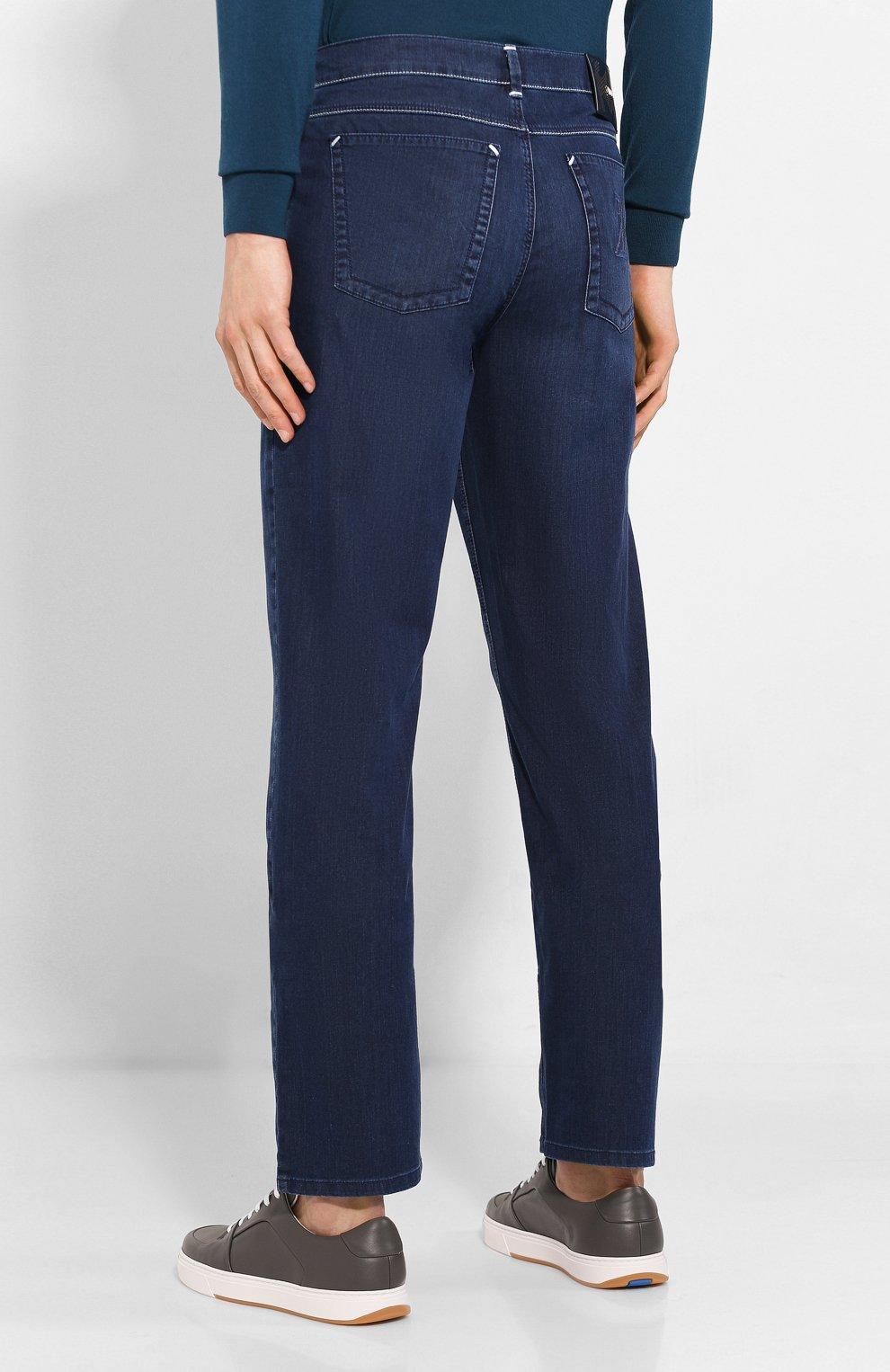 Мужские джинсы ZILLI синего цвета, арт. MCT-00071-DEUL1/R001   Фото 4