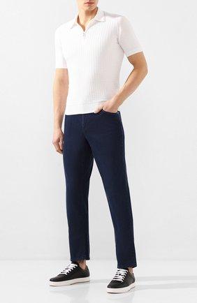 Мужские джинсы ZILLI темно-синего цвета, арт. MCT-00071-DEUL1/R001 | Фото 2