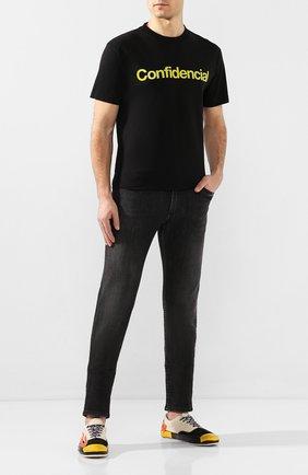 Мужская хлопковая футболка MARCELO BURLON черного цвета, арт. CMAA018S20JER008   Фото 2
