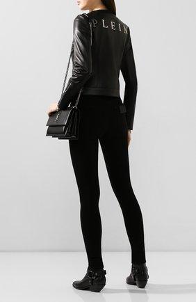 Женская кожаная куртка PHILIPP PLEIN черного цвета, арт. S20C WLB0660 PLE010N | Фото 2