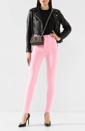 Женские джинсы PHILIPP PLEIN розового цвета, арт. S20C WDT1310 PDE004N | Фото 2