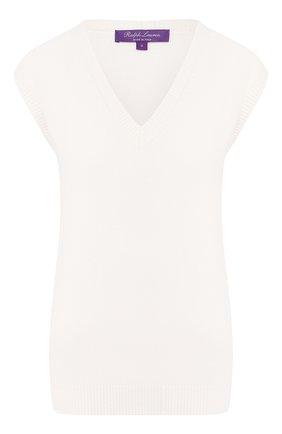 Женский кашемировый жилет RALPH LAUREN кремвого цвета, арт. 290790186 | Фото 1