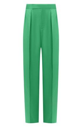 Женские шелковые брюки RALPH LAUREN зеленого цвета, арт. 290788140 | Фото 1