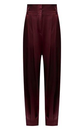 Женские шелковые брюки DOLCE & GABBANA бордового цвета, арт. FTBNYT/FUAEB | Фото 1