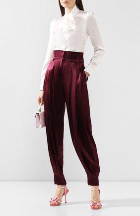 Женские шелковые брюки DOLCE & GABBANA бордового цвета, арт. FTBNYT/FUAEB | Фото 2