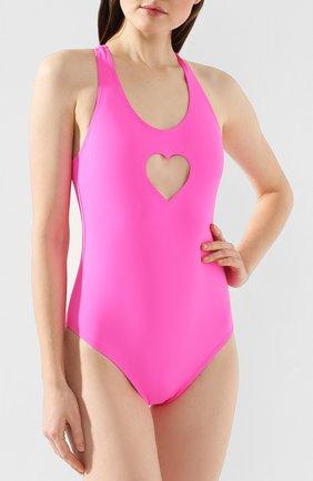 Женский слитный купальник VETEMENTS розового цвета, арт. SS20TR346 1350/W | Фото 2