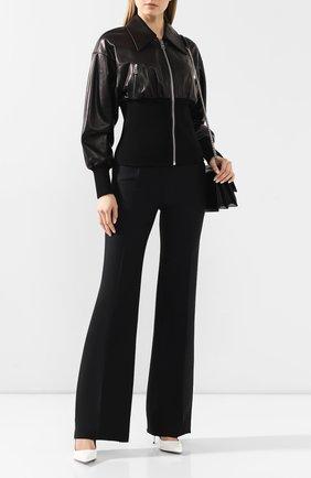 Женская кожаная куртка DOLCE & GABBANA черного цвета, арт. F9H66L/HULD8 | Фото 2