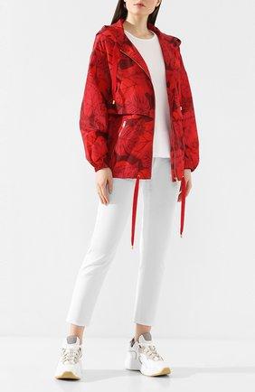 Женская куртка с принтом ESCADA SPORT красного цвета, арт. 5031884 | Фото 2