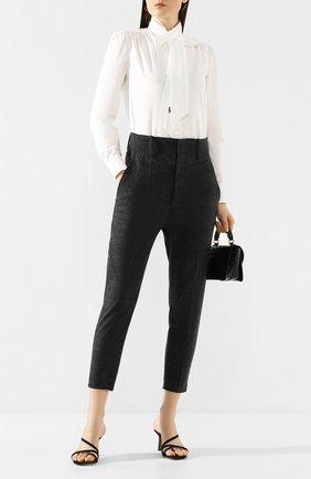 Женские брюки ISABEL MARANT ETOILE темно-серого цвета, арт. PA0718-20P010E/N0AH   Фото 2
