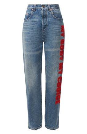 Женские джинсы GUCCI голубого цвета, арт. 502802/XDA3L | Фото 1