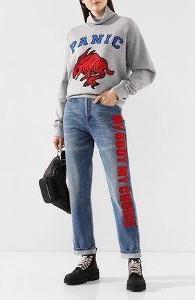 Женские джинсы GUCCI голубого цвета, арт. 502802/XDA3L | Фото 2