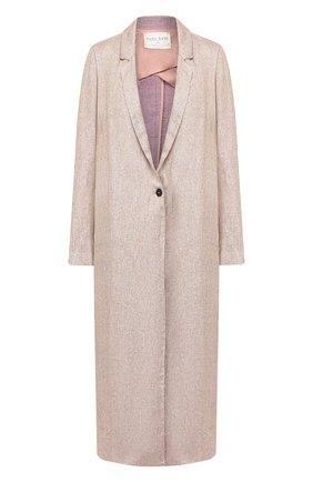 Женское пальто из смеси льна и вискозы FORTE_FORTE сиреневого цвета, арт. 7007 | Фото 1