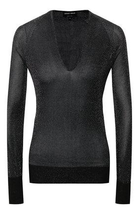 Женский пуловер из вискозы GIORGIO ARMANI черного цвета, арт. 3HAM11/AM33Z | Фото 1