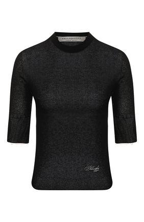 Женская пуловер из вискозы PHILOSOPHY DI LORENZO SERAFINI черного цвета, арт. V0925/706 | Фото 1