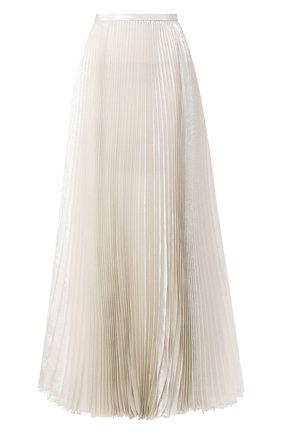 Женская шелковая юбка KITON серебряного цвета, арт. D49215K09S89 | Фото 1