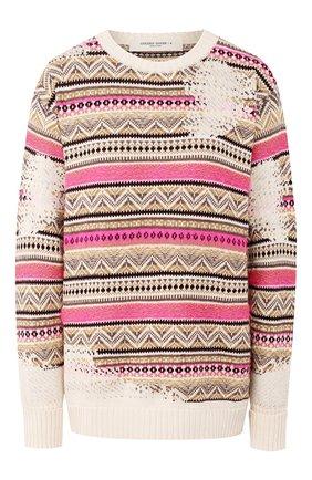 Женская свитер из смеси хлопка и шерсти GOLDEN GOOSE DELUXE BRAND розового цвета, арт. G36WP0K1.A2 | Фото 1