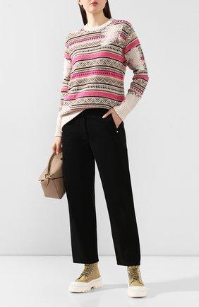 Женская свитер из смеси хлопка и шерсти GOLDEN GOOSE DELUXE BRAND розового цвета, арт. G36WP0K1.A2 | Фото 2
