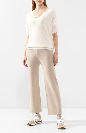Женская пуловер из смеси шерсти и кашемира MAX&MOI белого цвета, арт. E20BALE | Фото 2
