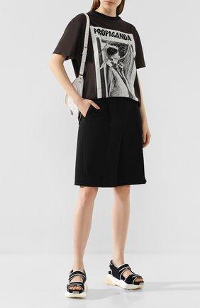 Женские шорты ACNE STUDIOS черного цвета, арт. AE0018/W | Фото 2