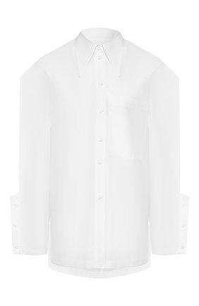 Женская хлопковая рубашка AKIRA NAKA белого цвета, арт. AR2016-WH | Фото 1