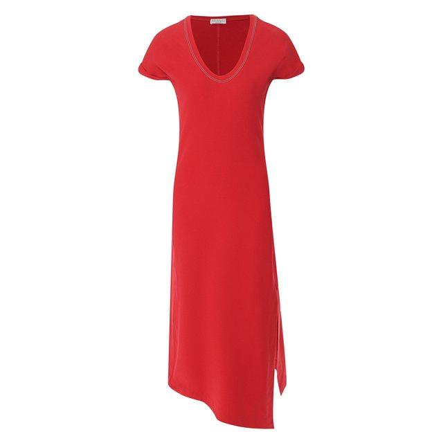 Шелковое платье Brunello Cucinelli — Шелковое платье
