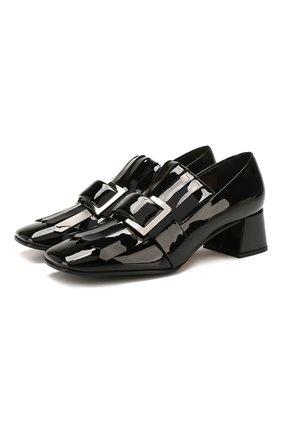 Женская кожаные туфли SERGIO ROSSI черного цвета, арт. A86410-MVIV01 | Фото 1