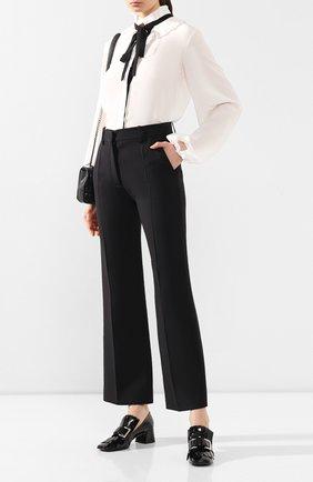 Женская кожаные туфли SERGIO ROSSI черного цвета, арт. A86410-MVIV01 | Фото 2