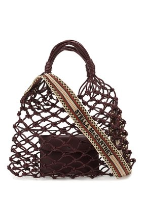 Женская сумка-тоут STELLA MCCARTNEY бордового цвета, арт. 700007/W8635 | Фото 1