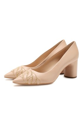 Женская кожаные туфли CASADEI бежевого цвета, арт. 1F659P0601C04182801 | Фото 1
