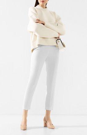 Женская кожаные туфли CASADEI бежевого цвета, арт. 1F659P0601C04182801 | Фото 2