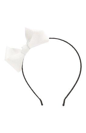 Детского ободок bow sh JUNEFEE белого цвета, арт. 6154 | Фото 1