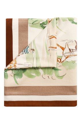 Мужского кашемировый плед LORO PIANA зеленого цвета, арт. FAF3392 | Фото 1
