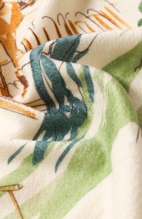 Мужского кашемировый плед LORO PIANA зеленого цвета, арт. FAF3392 | Фото 2