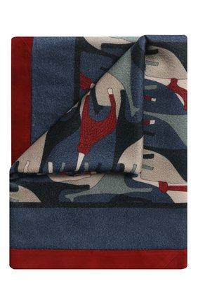 Мужского кашемировый плед LORO PIANA голубого цвета, арт. FAI9053 | Фото 1