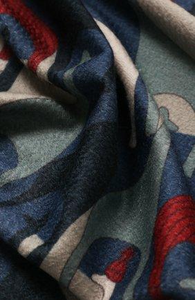 Мужского кашемировый плед LORO PIANA голубого цвета, арт. FAI9053 | Фото 2