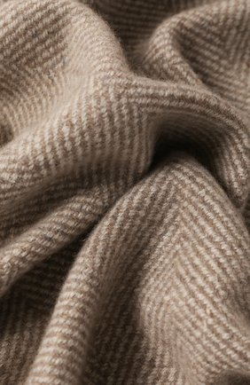 Мужского кашемировый плед LORO PIANA светло-серого цвета, арт. FAI8700 | Фото 2